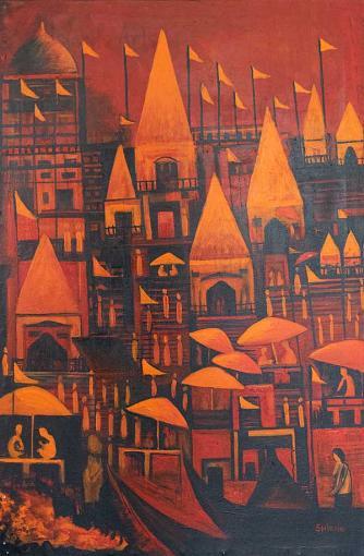 The Joy of Life Banaras 2 painting