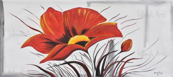 Flor roja painting