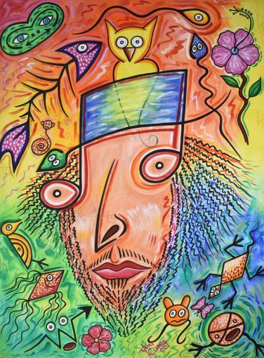 Juan Luis Guerra visto desde mi óptica painting